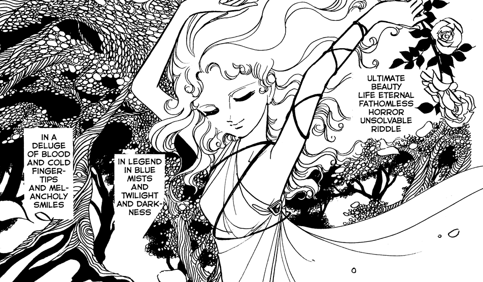 A panel from The Poe Clan depicting the vampirnella legend