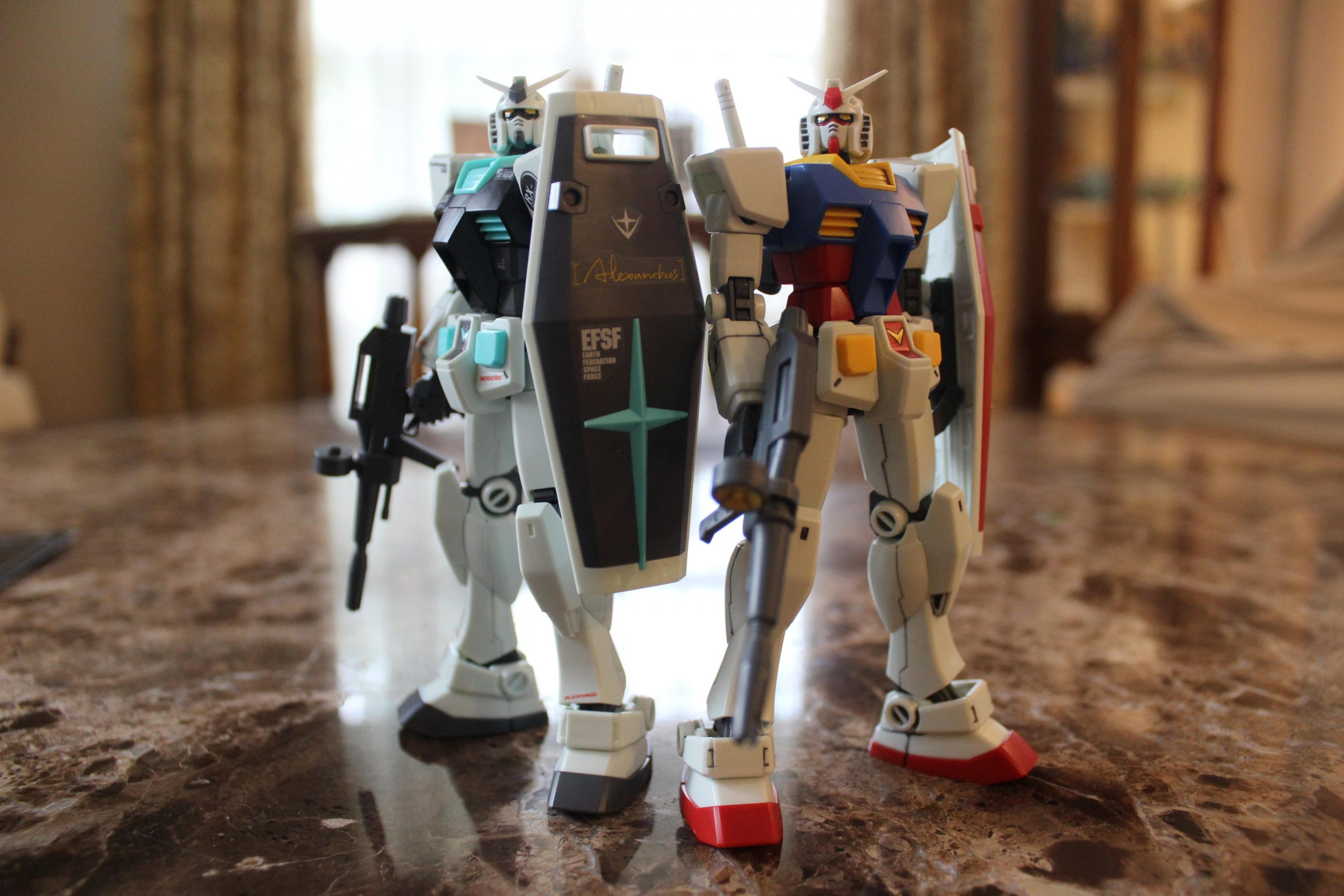 With the HGUC RX-78-2 Gundam (Revive Ver.)